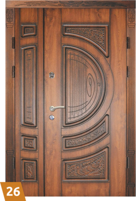 """Двері вхідні, двополі, """"глухі"""""""