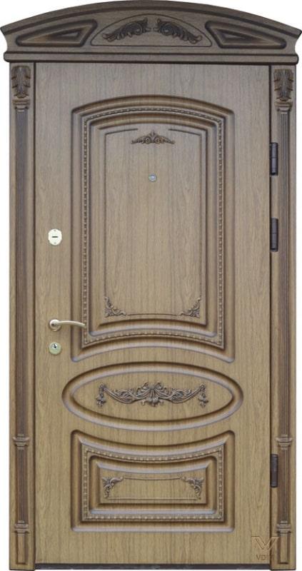 Двері однополі з карнізом