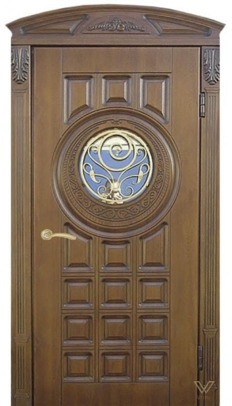 Двері вхідні однополі з карнізом