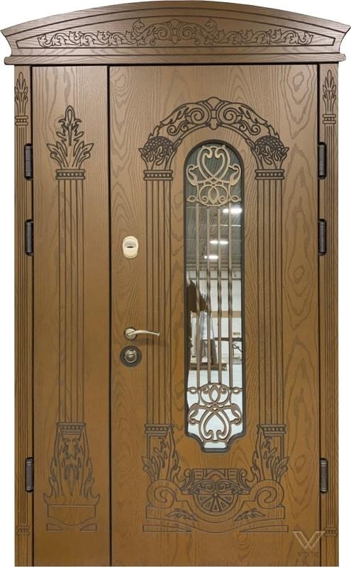 Двері броньовані з полімерними накладками та карнізом