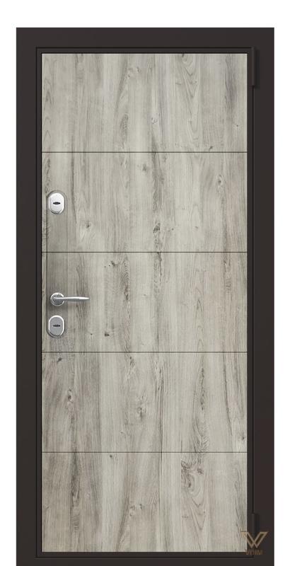Двері в квартиру, Дуб кантрі сірий