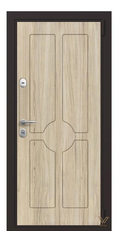 Двері вхідні квартирні, Дуб пісочний