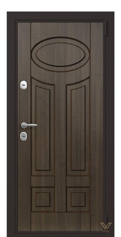 Двері в квартиру, вхідні, Дуб темний