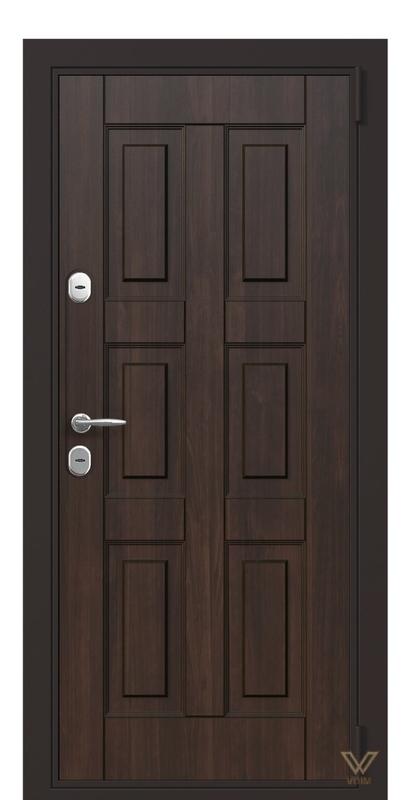 Двері вхідні в квартиру, Горіх темний