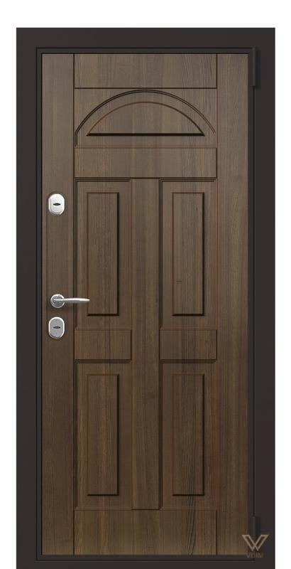 Двері вхідні квартирні. Горіх тиснений