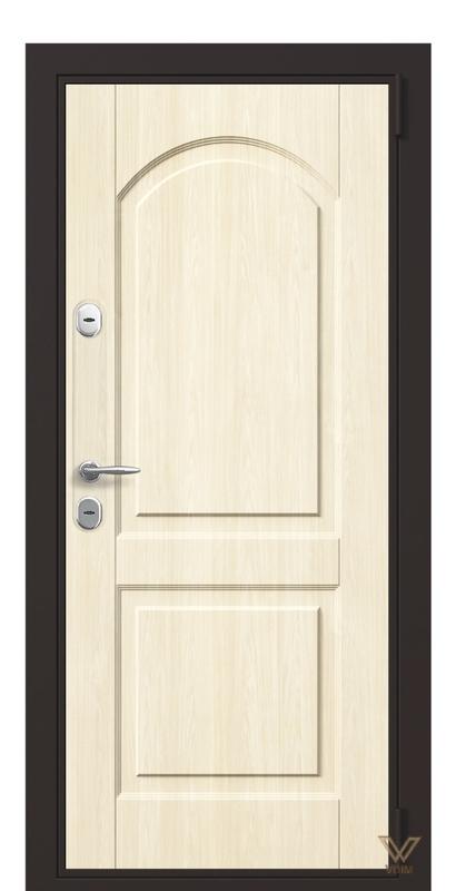 Двері вхідні в квартиру, бук вибілений