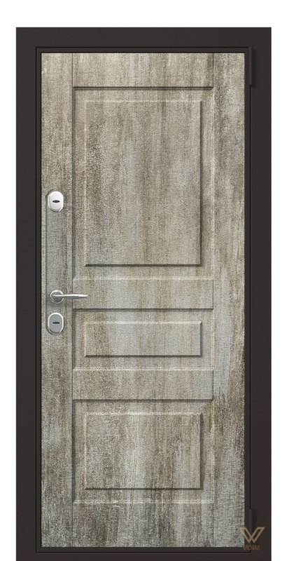 Двері вхідні в квартиру, бетон світлий