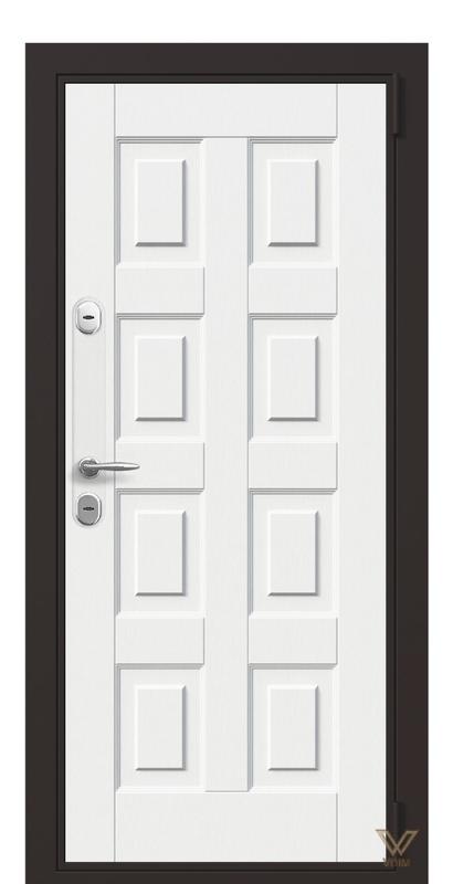 Двері в квартиру, біле дерево