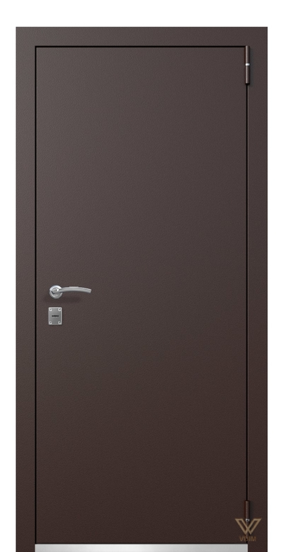 Двері металеві, коричневі